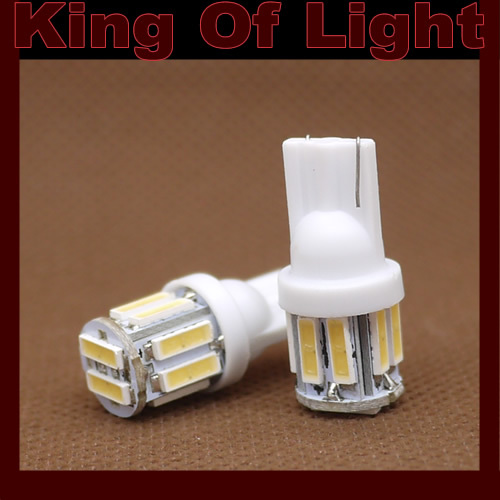 10x Car Auto LED w5w 194 T10 10 led SMD 7014 t10 10smd Wedge LED Light Bulb Lamp White Free shipping(China (Mainland))
