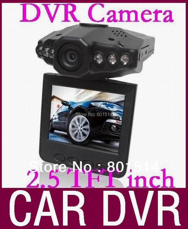 HD Car DVR Camera Wide Angle 120 Degree Rotation 2.5 LCD Car Driving Recorder H198 HOT 50pcs/lot Free DHL(China (Mainland))