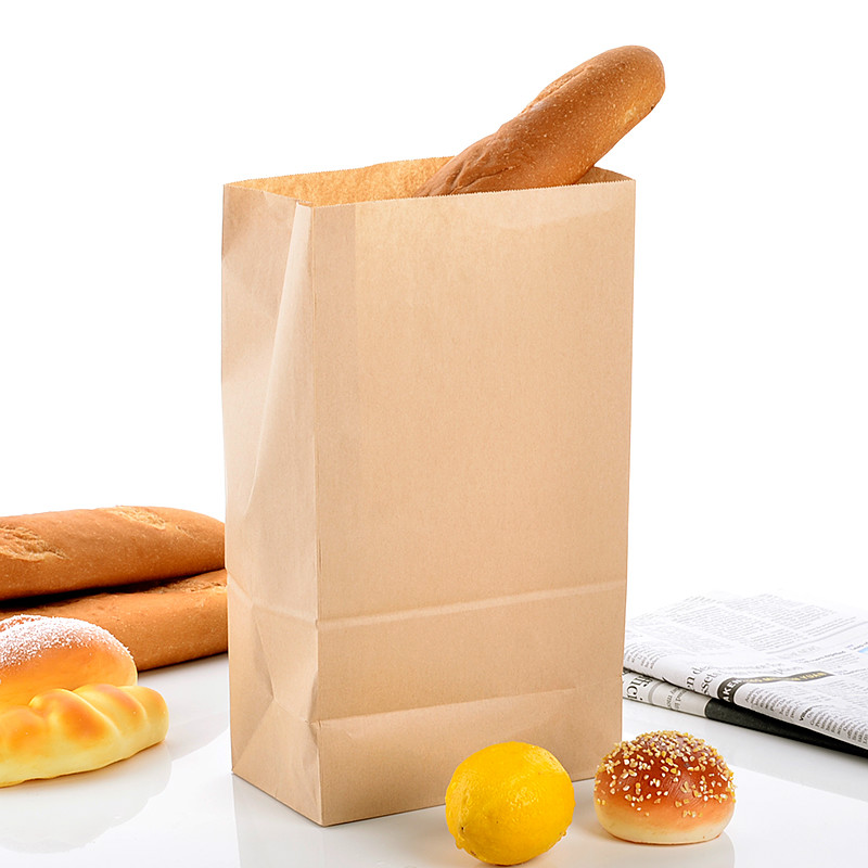 100pcs/lot Kraft Paper Small Gift Bags Sandwich Bread Food Bags Takeout Bags Party Wedding 32cmx18cmx11cm (12#)(China (Mainland))
