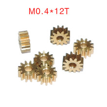 Buy 10PCS M0.4*12T motor output shaft gear Pure copper gear hobbing for $13.53 in AliExpress store