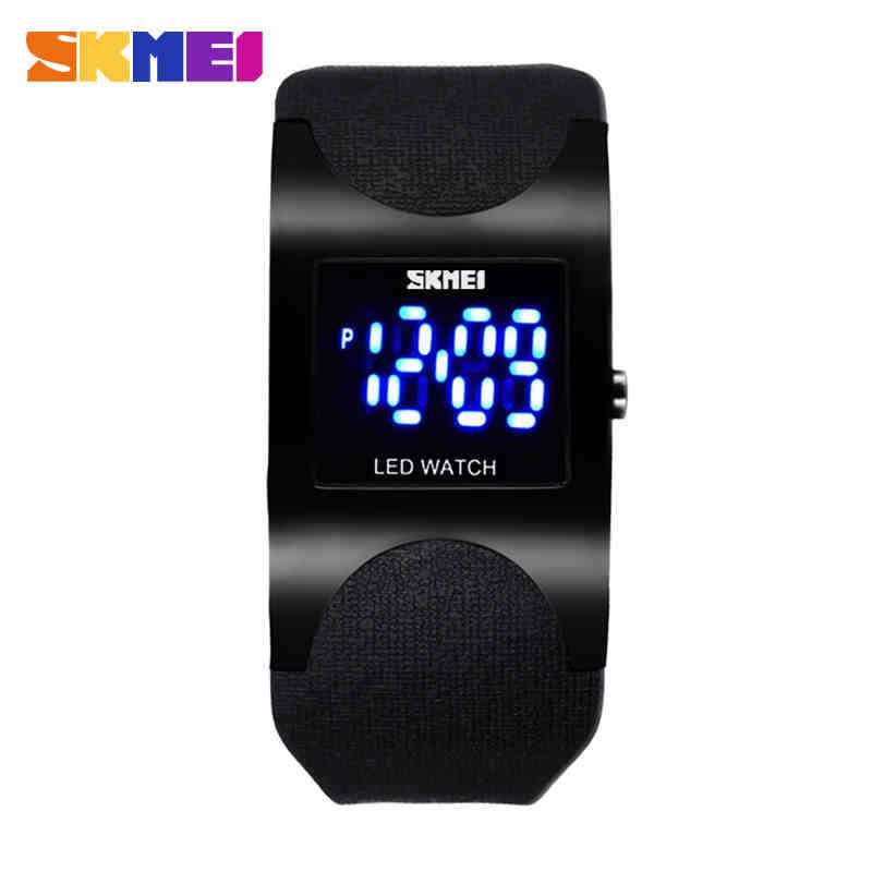 New 2013 Free Shipping Brand SKMEI Square Stainless Steel stripe Dress Casual Sports LED Digital Electronic Men Watch (4 Color)<br><br>Aliexpress