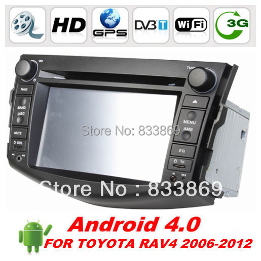HD 2 din 7 inch Android 4.0 Car DVD Car PC for TOYOTA RAV4 With GPS Navi 3G / WIFI Bluetooth IPOD Radio / RDS AUX IN(China (Mainland))