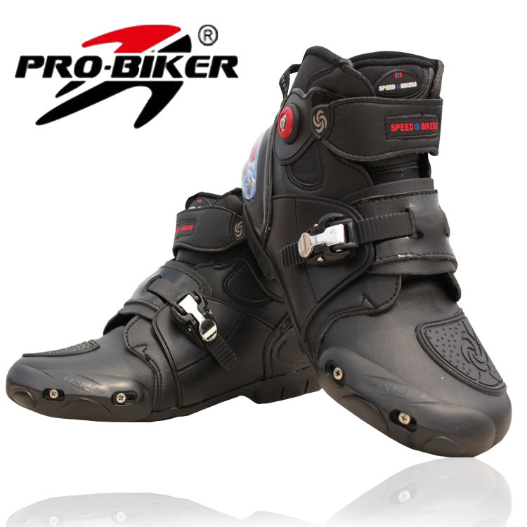 2015 fire wheels Motorcycle boots pro-biker Racing boots road shoes motorcycle ride boots for men women black free shipping(China (Mainland))
