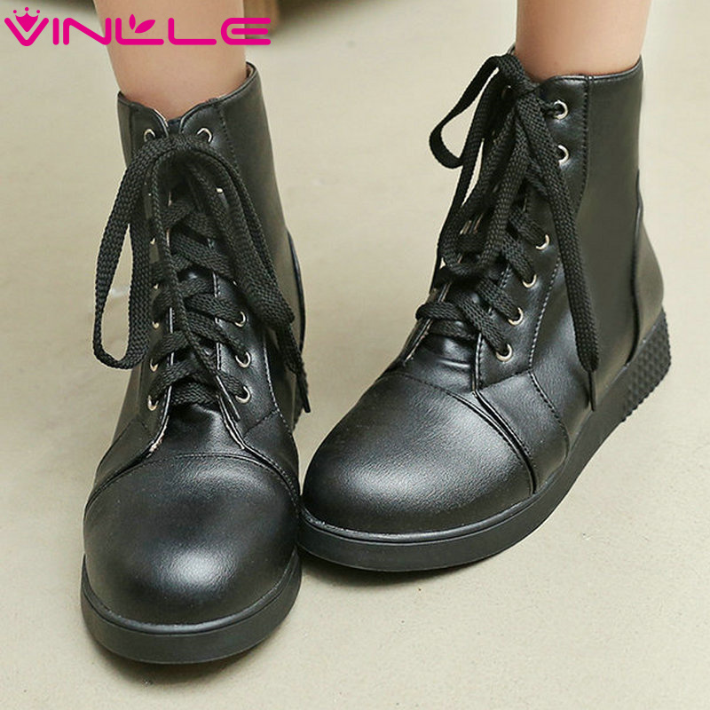 Popular Plain Black Ankle Boots-Buy Cheap Plain Black Ankle Boots ...