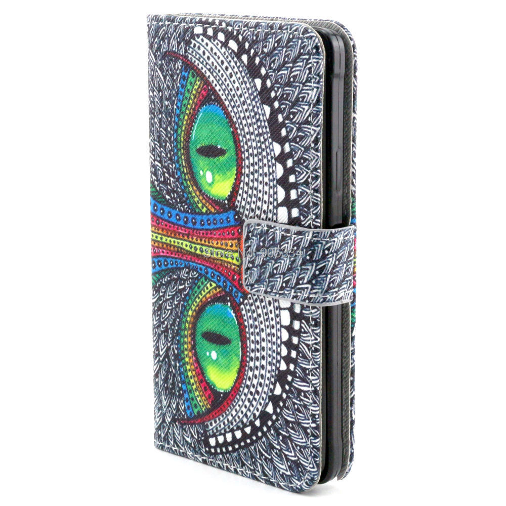 Lovely Cartoon Owl Eiffel Tower Elephant PU Leather Flip Wallet Case Samsung Galaxy Note 4 Note4 N9100 - Cellphone Discount Stores store