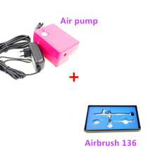 Dual-action Airbrush Kit Pen Body Paint Makeup Spray Gun for Nail Paint Art Drawing with Air CompressorWith a Hose(China (Mainland))