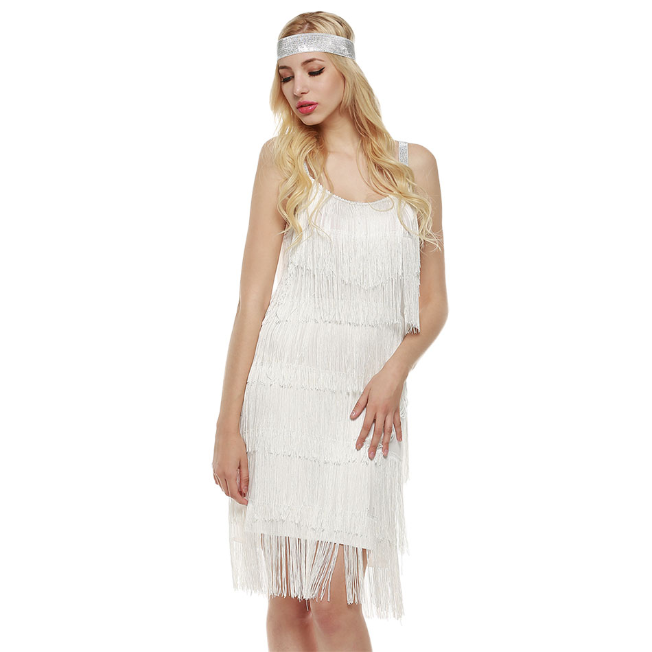 ... Flapper Costumes for Ladies Women Female Clubwear 41-in Dresses from