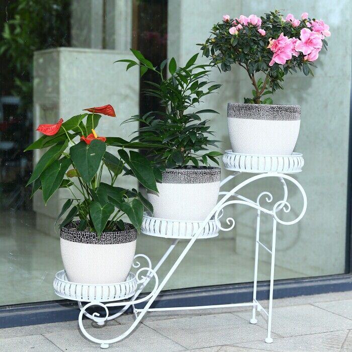 Pot Stand Designs : Cm big size european balcony fower pots shelf