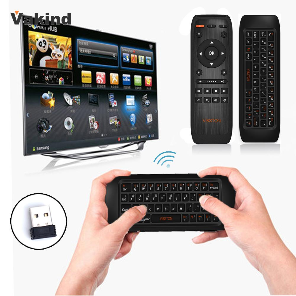 Original Brand Rechargeable Wireless Keyboard Gyro Fly Air Mouse IR Remote Control for PC Computer Projector TV Set HTPC(China (Mainland))