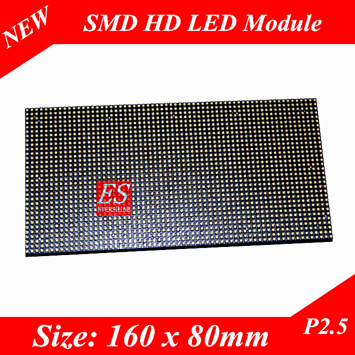 P2.5 HD Video LED Display Module Size 160 x 80 pixels Premium Quality Small Pixel Pitch 16000 dots/sqm(China (Mainland))