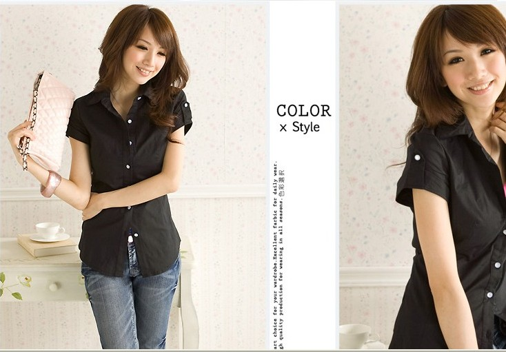 2013 spring summer plus size female shirt hot-selling slim thin clothing short-sleeve - bingwen chen's store