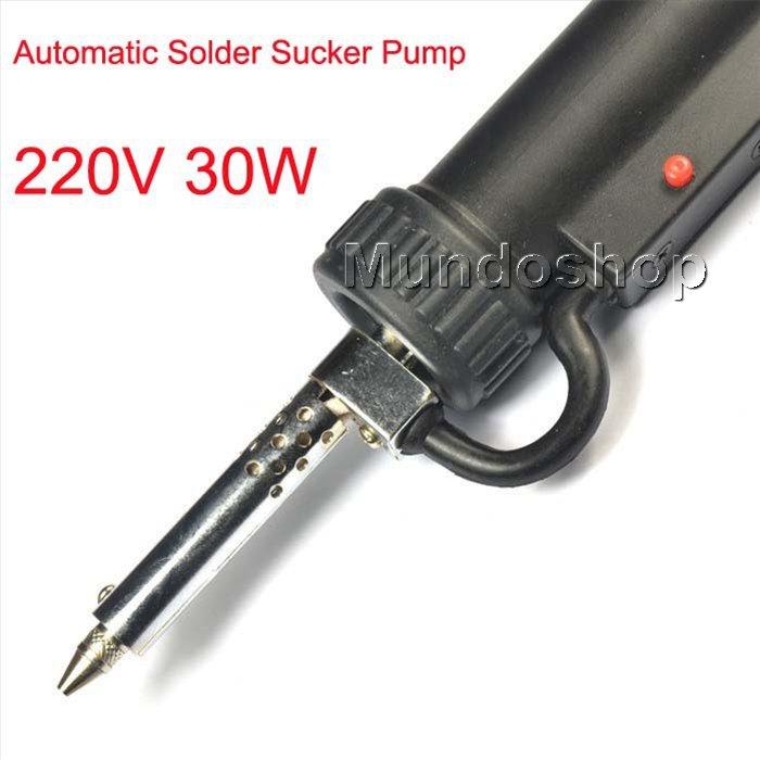 Cheap electric vacuum solder sucker desoldering- 30W 220V 50HZ pump Solder Sucker Gun solder remover 30W(China (Mainland))