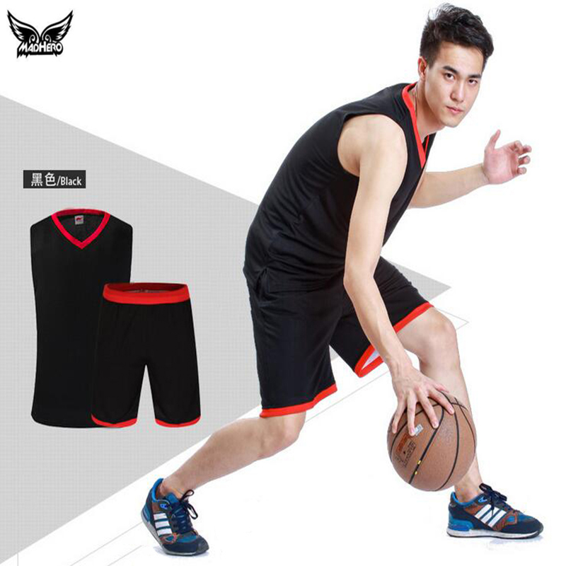2016 Mens Cheap Basketball Jersey Set Trainning College Basketball Jerseys Suit Quick Dry Breathable Throwback Basketball Jersey(China (Mainland))