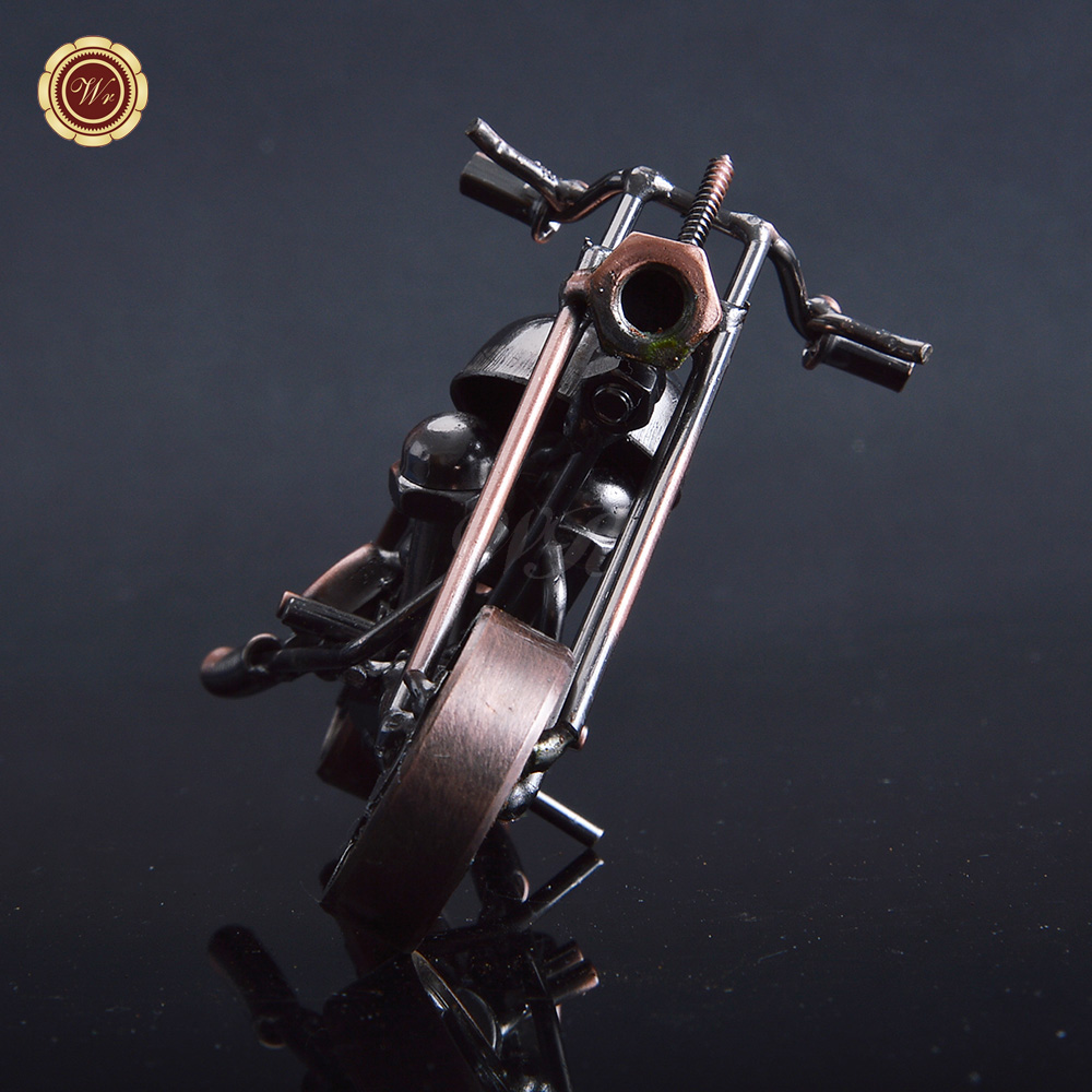 Antique Imitation Iron Motorcycle Model Handmade Metal Crafts Home Decoration Art Craft Unique Christmas Gifts(China (Mainland))
