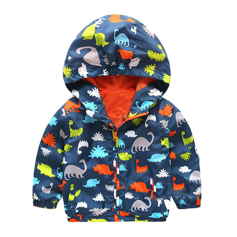 New 2016 Baby Boy Spring Jackets Brand Outerwear Dinosaur Hooded Softshell Jacket For Boys Kids Coat High Quality 2-6 Years(China (Mainland))