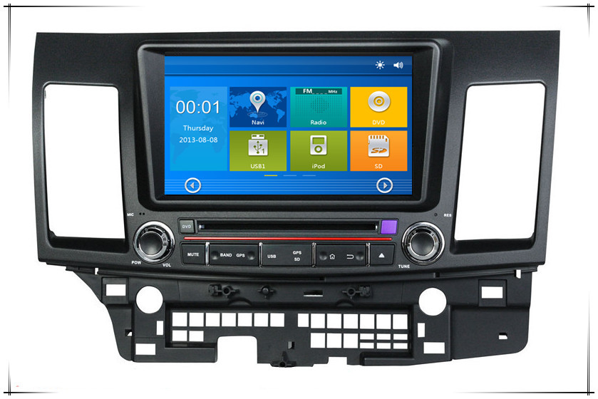 """Wince 6.0 OS 8"""" Capacitive Touchscreen HD 1080P Car DVD Player For Mitsubishi LANCER 2006-2012(China (Mainland))"""