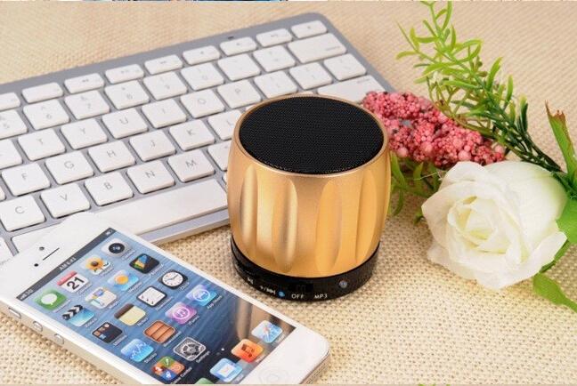 50pcs/Lot Luxury Wholesalse Wireless Portable Mini Speaker Computer Amplifier FM Radio USB Micro SD TF Card MP3 Player(China (Mainland))