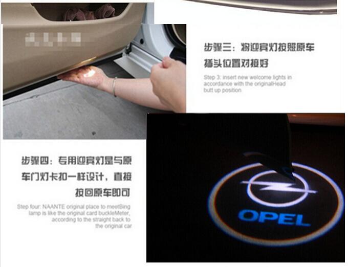 Двери автомобиля свет дух тень приветствуется света логотип проектор эмблему для Opel Insignia беспроводной зажигания и играть
