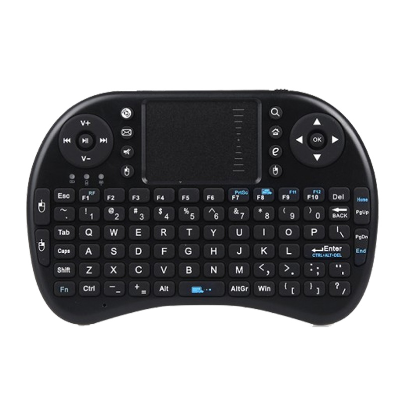 2.4G Mini QWERTY Wireless Keyboard with Mouse Touchpad Gaming Keyboard for PC Notebook Android TV Box HTPC(China (Mainland))