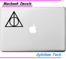 Buy Deathly Hallows Apple Logo Vinyl Sticker Macbook Skin Air 11 13 Pro 13 15 17 Retina Laptop Computer Wall Creative Decal for $4.11 in AliExpress store