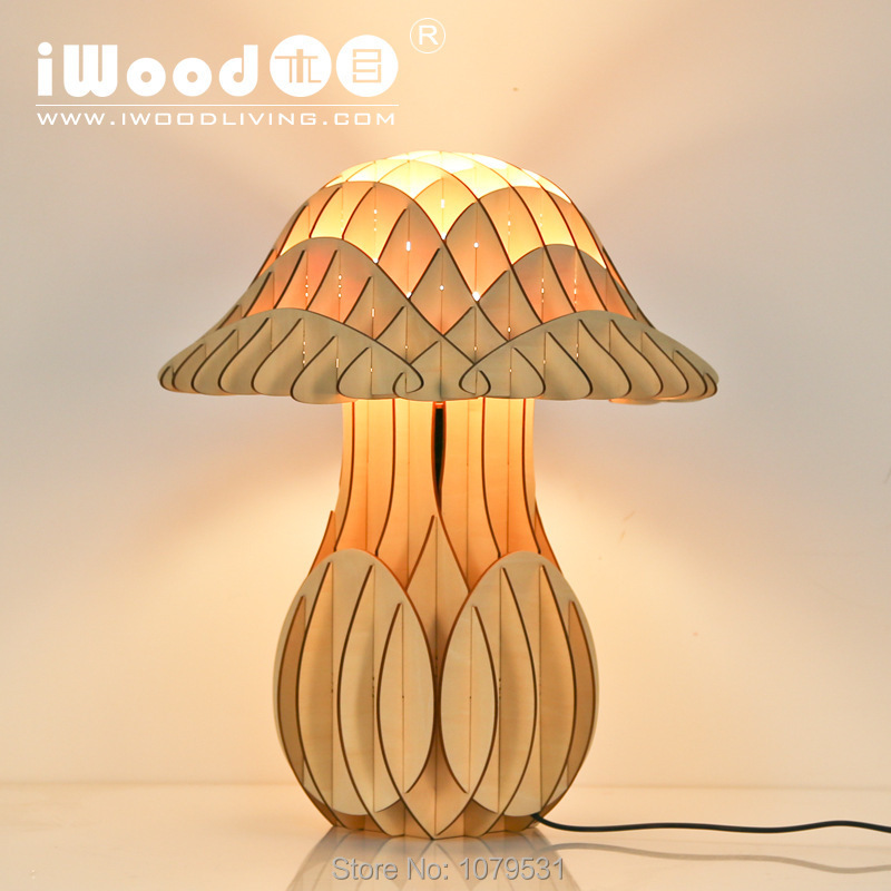 Simple Modern Fashion Original Mushroom Wood Creative Bedside Lamp Bedroom Table Lamp For Sitting Room<br><br>Aliexpress