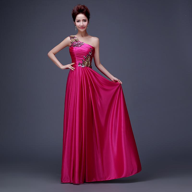 Bonito Vestido De Sirena De Un Hombro Baile De Graduación Galería ...