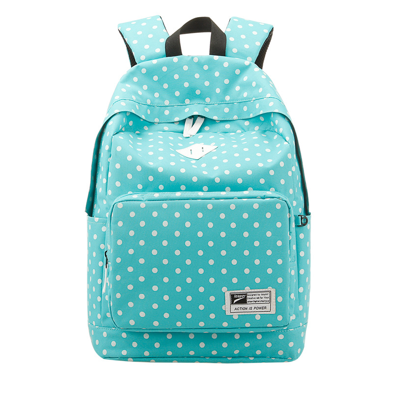 2015 new Oxford cloth backpack Polka Dot bag school fashion trend backpack school a variety of styles optional bag(China (Mainland))