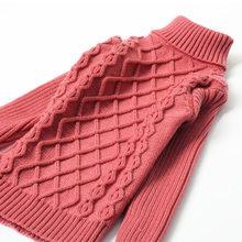 Коллекция 2018 года, осенне-зимний свитер для маленьких мальчиков и девочек детская вязаная одежда детский вязаный пуловер с высоким воротни...(China)
