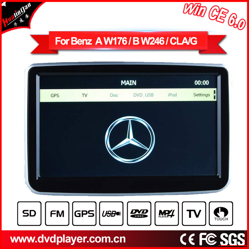 Windows Ce Special Car DVD Player for BENZ CLK GLK with GPS Radio Bluetooth PIP MP4 MP5 IPOD USB SD portable dvd player(China (Mainland))