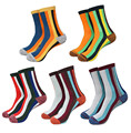5Pair Korean Style Striped Men Socks Male Fashion Colorful Casual Cotton Happy Socks Men Thermal Warm