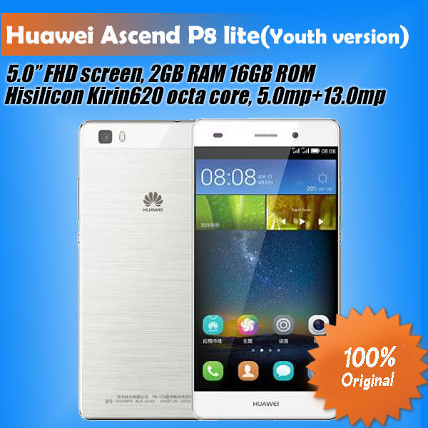 Мобильный телефон Huawei Ascend P8 Lite 5.0' 4 G LTE Android 5.0 1280 x 720 HiSilicon 620 octa Core 2 16 ROM HUAWEI Ascend P8 LITE(Youth version) блузон fake ethics youth 8 16 лет