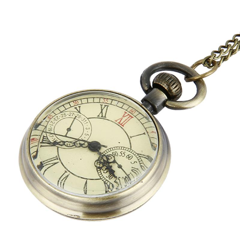 Men Pocket Watch Male Necklace Vintage Quartz Watches Birthday Roman Numerals TKS214(China (Mainland))