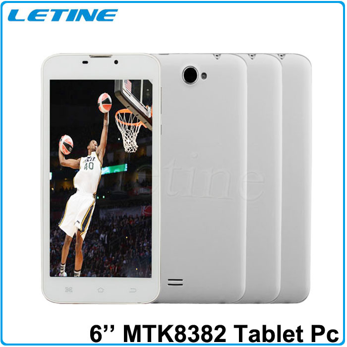 "3G WCDMA 2100MHz With Flash IPS Screen Quard Core 1G/8G Removable Battery 3G+Bluetooth+GPS 6"" Android Tablet Phone Quad core(China (Mainland))"