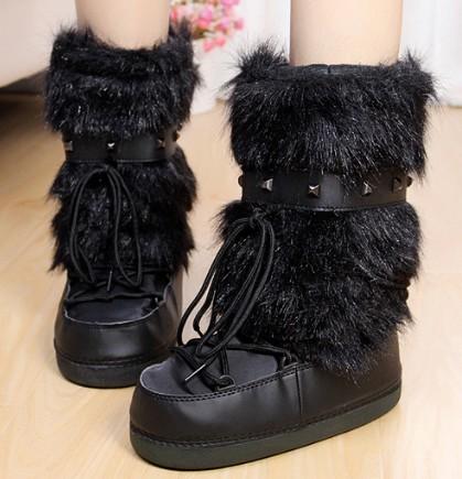achetez en gros moon boots fourrure en ligne des grossistes moon boots fourrure chinois. Black Bedroom Furniture Sets. Home Design Ideas