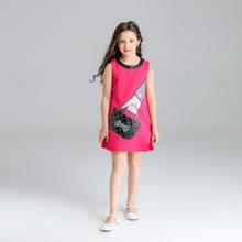 retail hot sell Christmas Girls Dress 2017 Brand Children Dress Princess Costume pink handbag pattern Enfant Kids Dresses HB2107(China (Mainland))