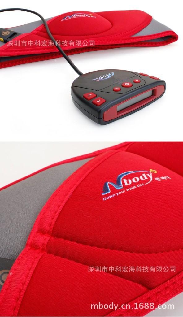 EMS electric muscle stimulation sliming belt factory direct sale mbody massage belt export Korea(China (Mainland))