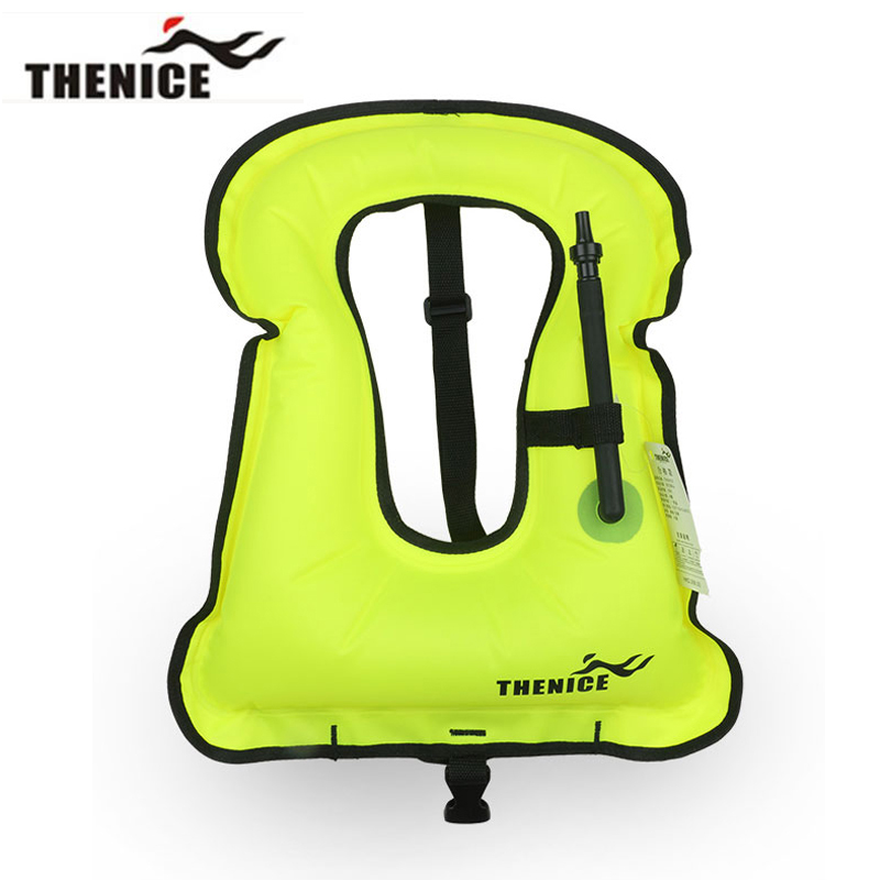 Thenice New Portable Inflatable life jacket Buoyancy vest Snorkeling dive suit Equipment swim For Adult And Children Super light(China (Mainland))