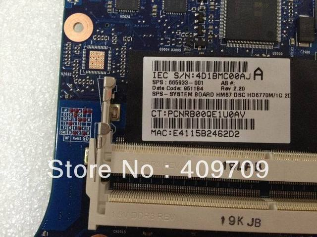 hot sale 665933-001 for motherboard  DDR3 100% work test fully 50% off shipping