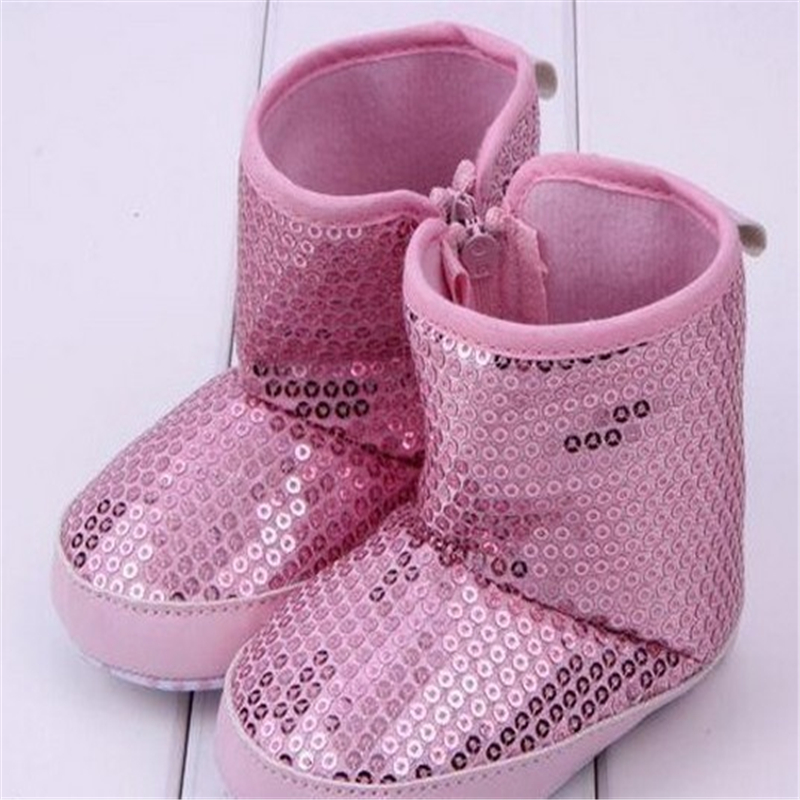 Kids Boys Girl High Boots Soft Sole Cotton Thicken plus velvet Sequins Baby Toddler Shoes - Trustworthy Online Mall store