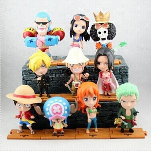 Anime Cute One Piece 2 years later PVC Acton Figures Model Collection Toys Dolls 10pcs/set H32(China (Mainland))