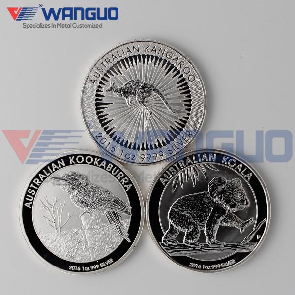 3 pcs/lot 2016 - P Australian Perth Mint Animal Coin $ 1 Dollar Troy Oz. Kangaroo / Koala / Kookaburra 999 Fine Silver Coins(China (Mainland))