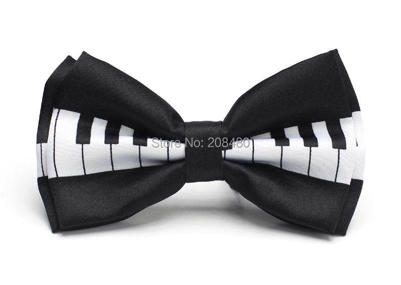 """Free shipping-Bow tie for Men Men's Unisex """"Piano Key"""" Pattern Tuxedo Dress Bowtie / Butterfly Brand New(China (Mainland))"""