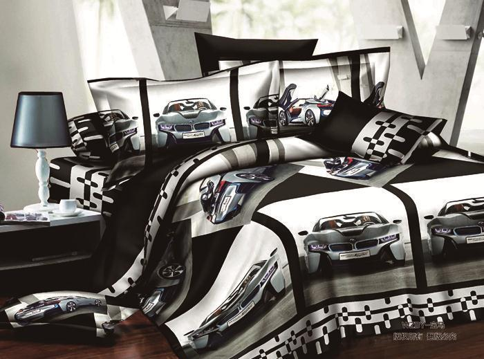 Discount Very Cool Car Style 3d Bedding Set 4pcs Quilt Cover Bed Linen