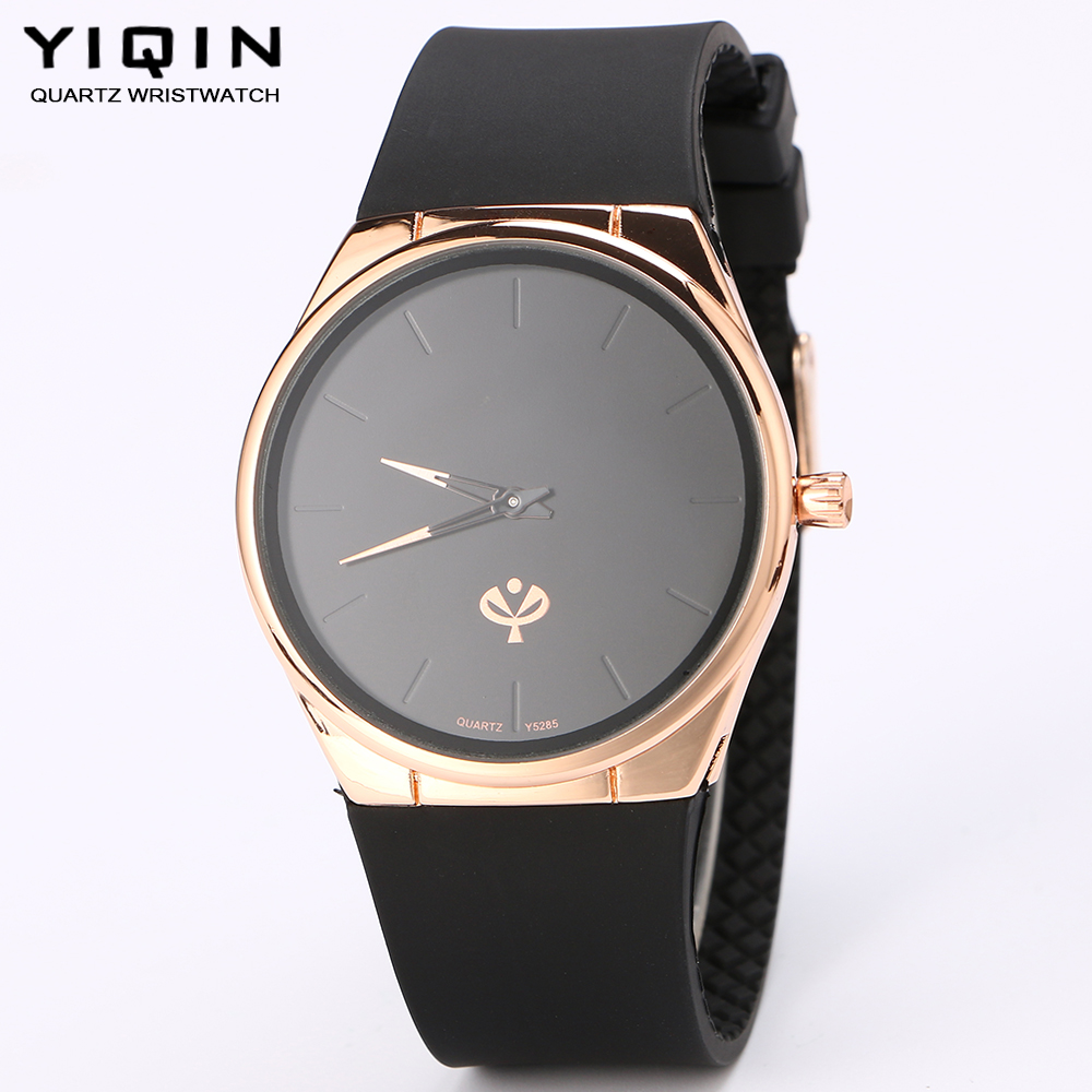 YIQIN quartz watch watch men Rose gold business luxury fashion brand waterproof watches Leisure ultra-thin silicone watches(China (Mainland))