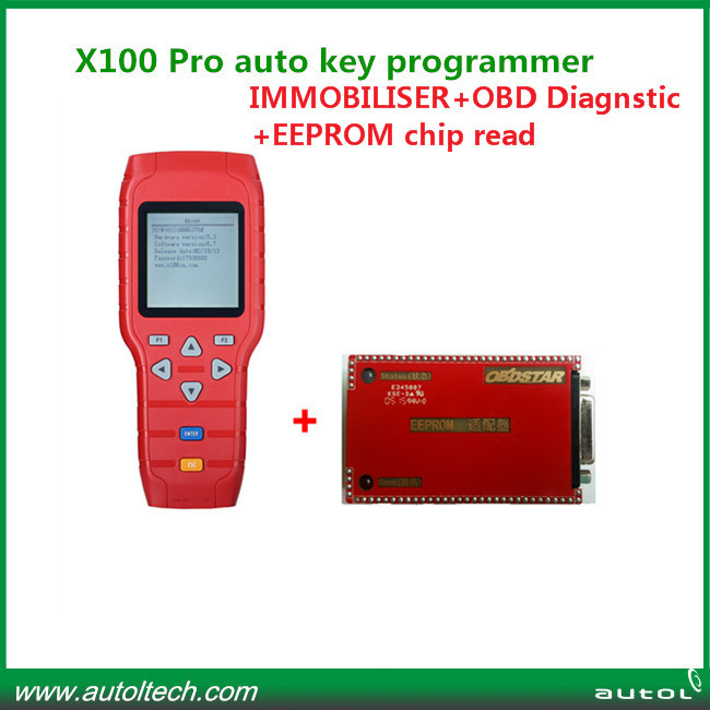 The Latest Version X100 key programmer newly add EEPROM Chip read X 100 Pro programmer(China (Mainland))