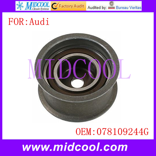 New Auto Timing Belt Tensioner Pulley use OE NO. 078109244G for Audi A6 A4 90 Cabriolet(China (Mainland))