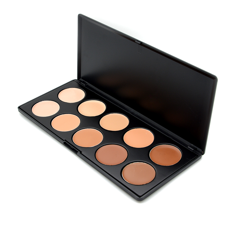 1PC Pro 10 Color Concealer Palette With Brush Camouflage Professional Makeup Beauty Bronzers Face Foundation Cosmetics Set(China (Mainland))