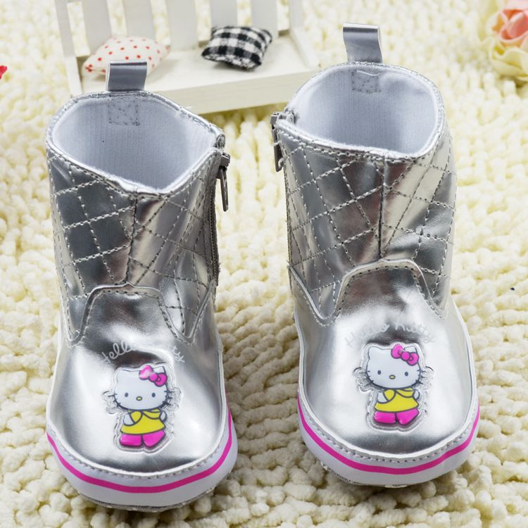 Pretty Hello kitty soft sole Baby girls autumn boots infant kids first walkers sneaker skidproof newborn bebe shoe,free shipping(China (Mainland))