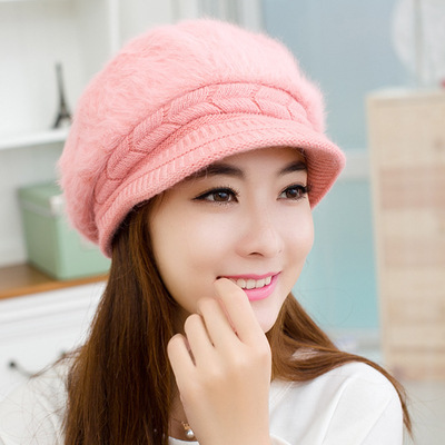2014 warm autumn winter fur hat knitting new fashion women wool cap - Happy toy store