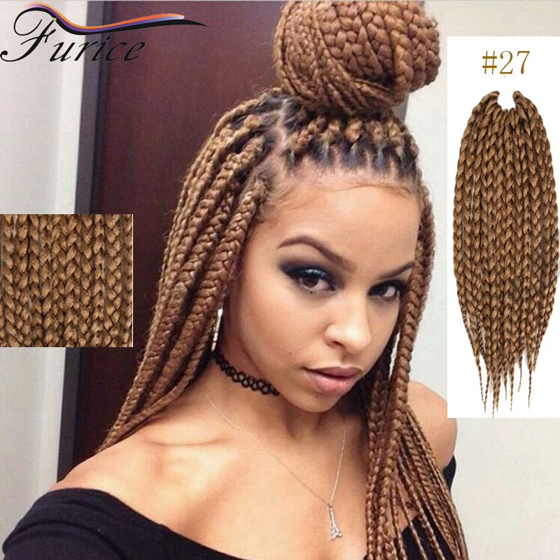 Crochet Hair Blonde : Crochet Box Braids Hair Blonde Hair Extensions 2X Box Crochet Hair ...